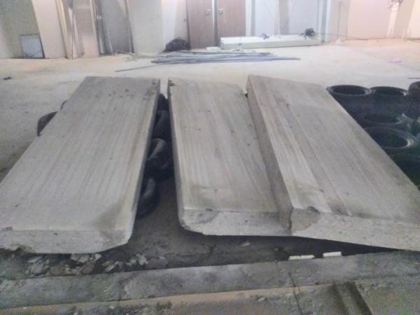 betonfal kivágva