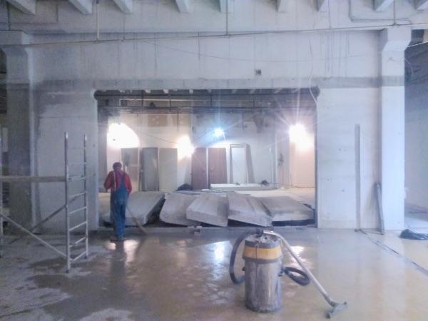 átjáró vágás betonba