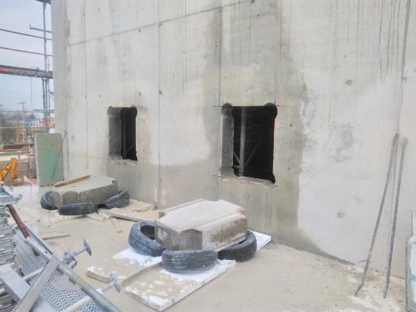 beton nyílás vágás